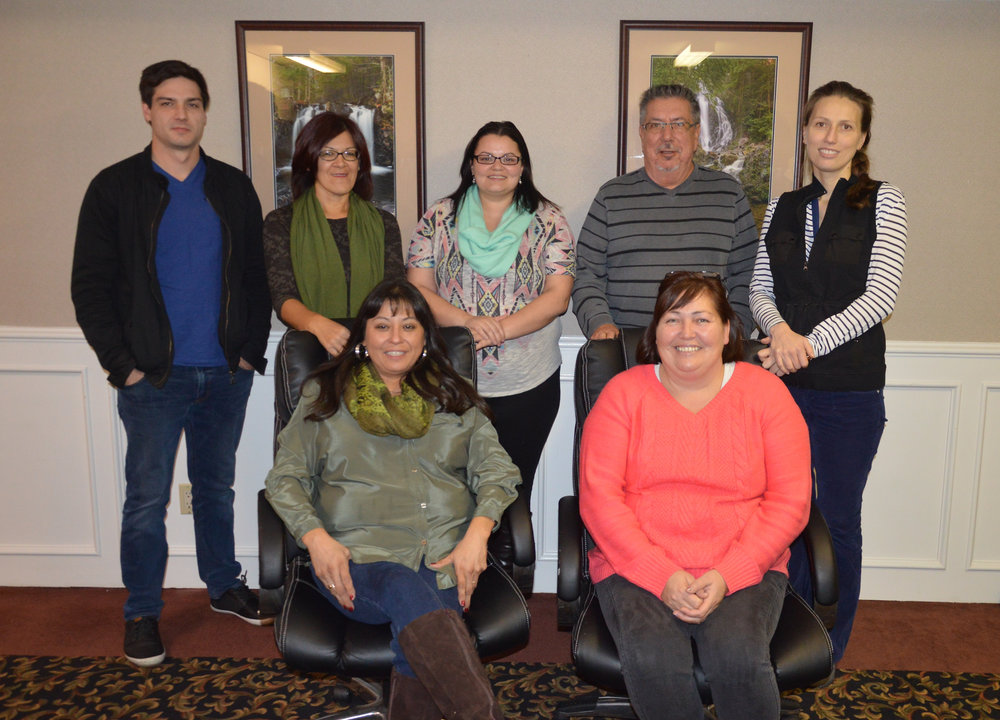 JEDI's Digital Literacy Coordinator, Ashley Nash (back row centre) with CyberLaunch Academy Trainer , Natalia Stakhanova (top row far right) and trainees at JEDI's Digital Literacy Train the Trainer Session - CyberSecurity Workshop in Fredericton, NB.
