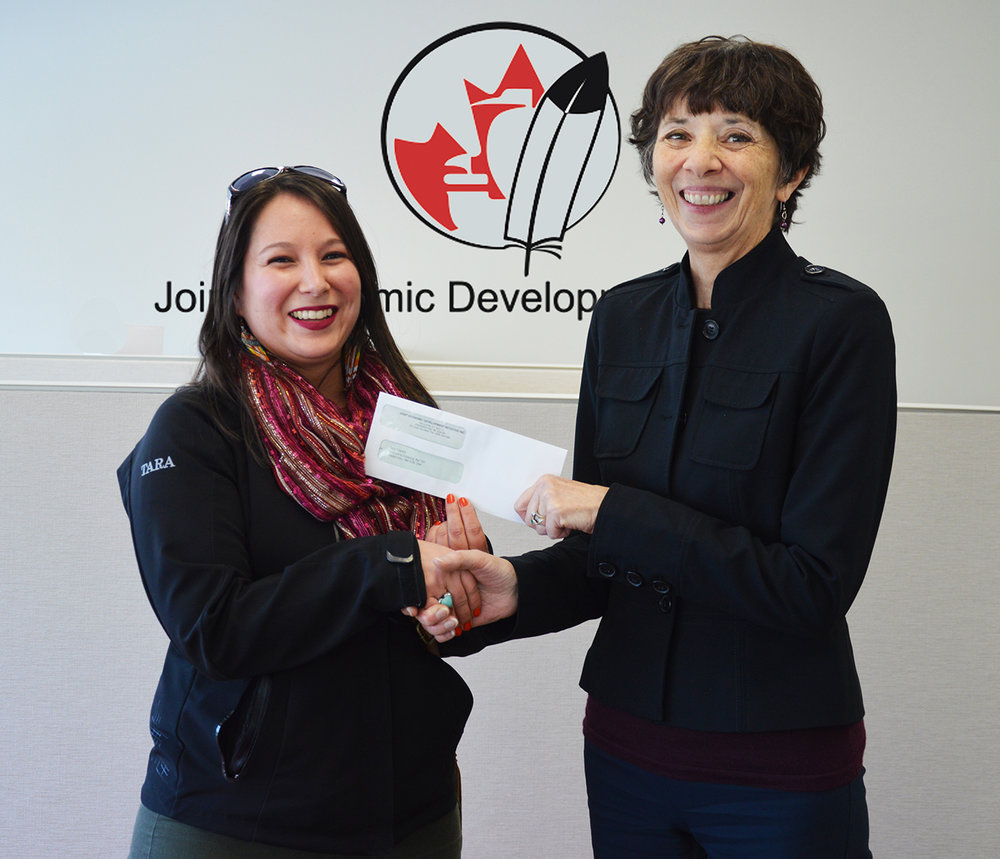 (left to right) Tara Francis, one of the 2017 JEDI/Brun-Way Bursary winners, and Karen LeBlanc, Senior Projects Manager at JEDI