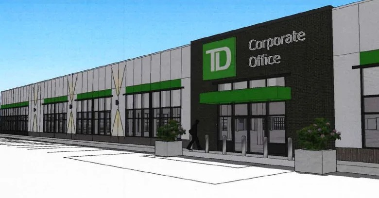 A drawing of a new TD corporate office in Dieppe. (Opportunites New Brunswick)
