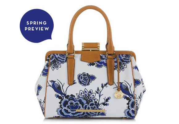 Spring Preview #Brahmin Frame Satchel in #Delft