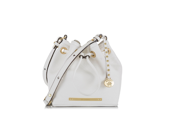 The #Brahmin Lexie Crossbody in White Napal