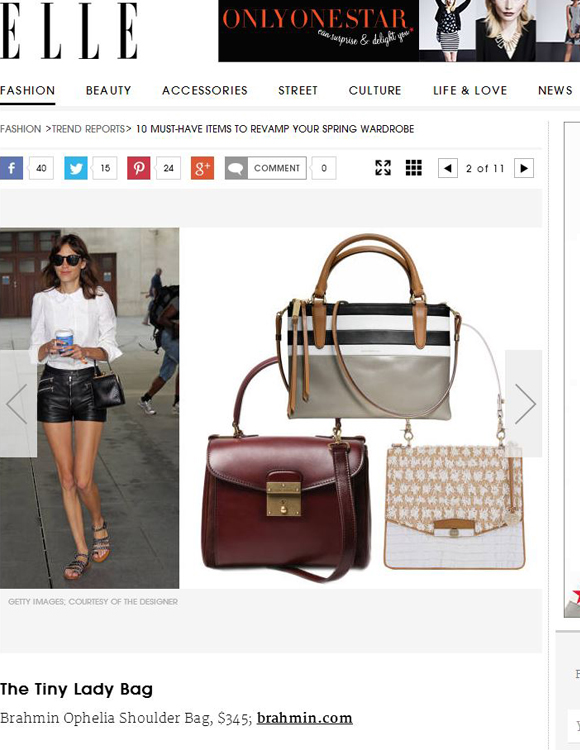 Brahmin on Elle.com