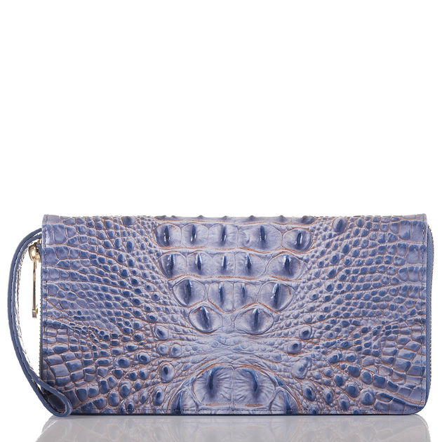 The Skyler Wristlet  in Washed Indigo, $155.  xo