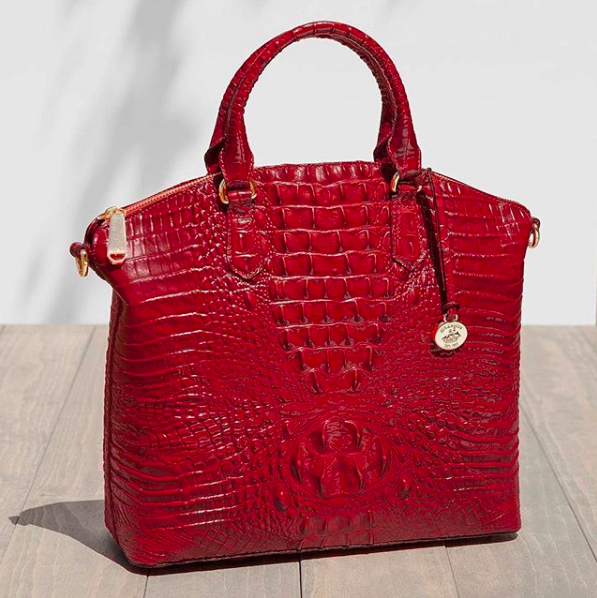Large Duxbury Satchel in Scarlet Melbourne