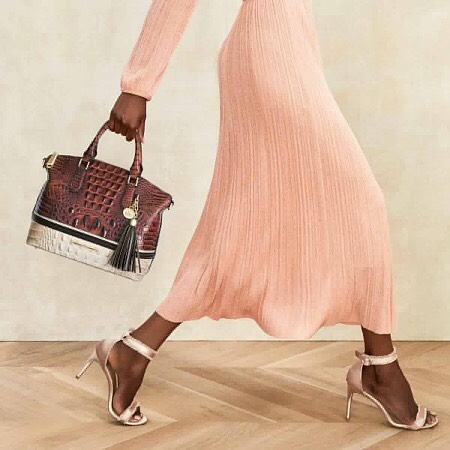 Don't let our newest batch of arrivals walk on by! Snag these staples (like the Duxbury Satchel in Pecan Eastwood) while you can. #answerwithbrahmin