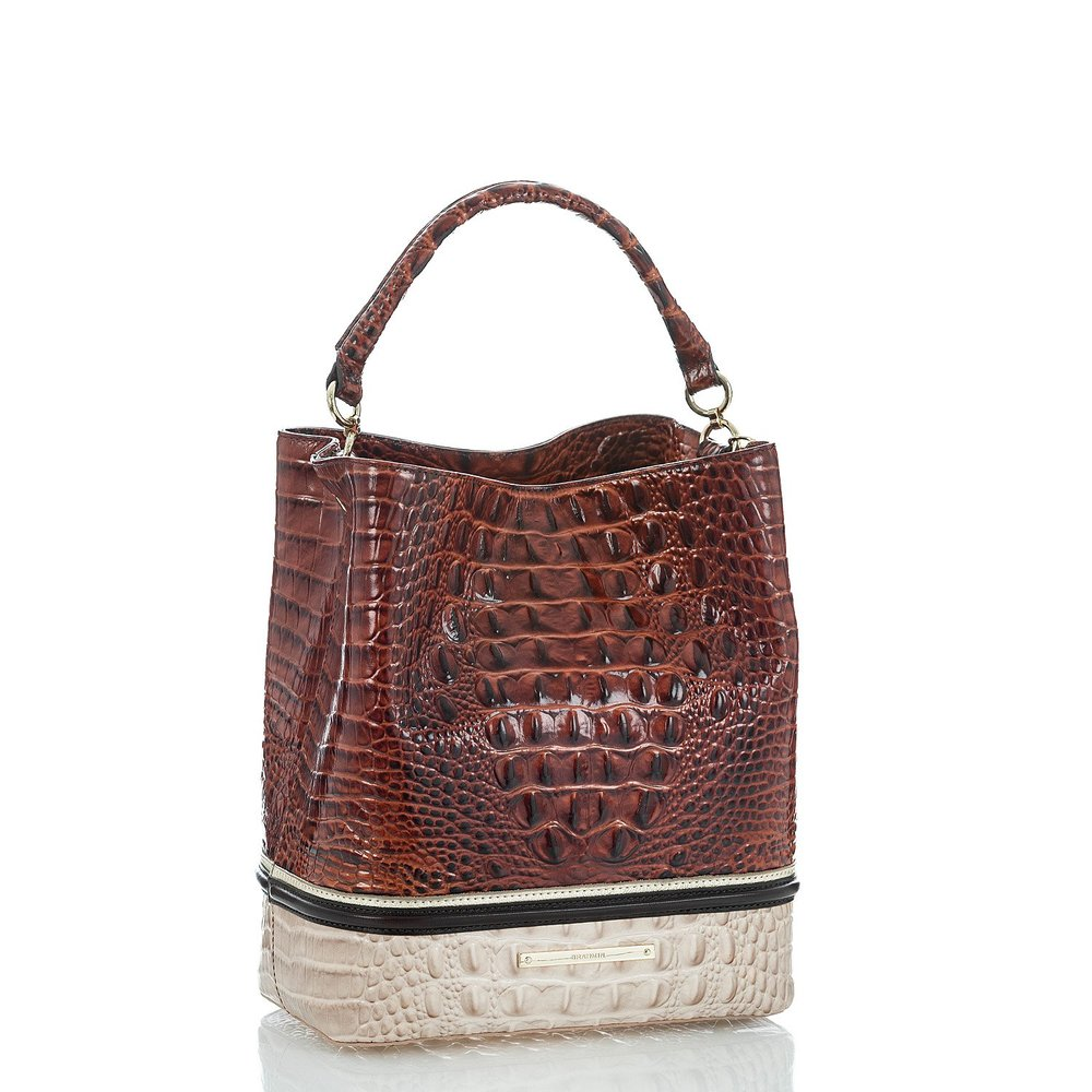 Amelia Bucket Bag in Pecan Eastwood
