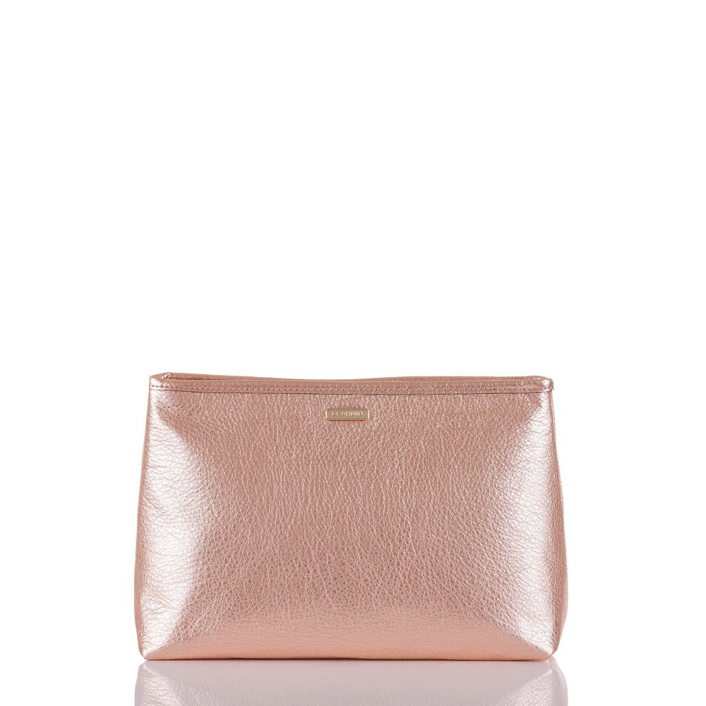 Sloane Cosmetic Pouch in Rose Gold Moonlit