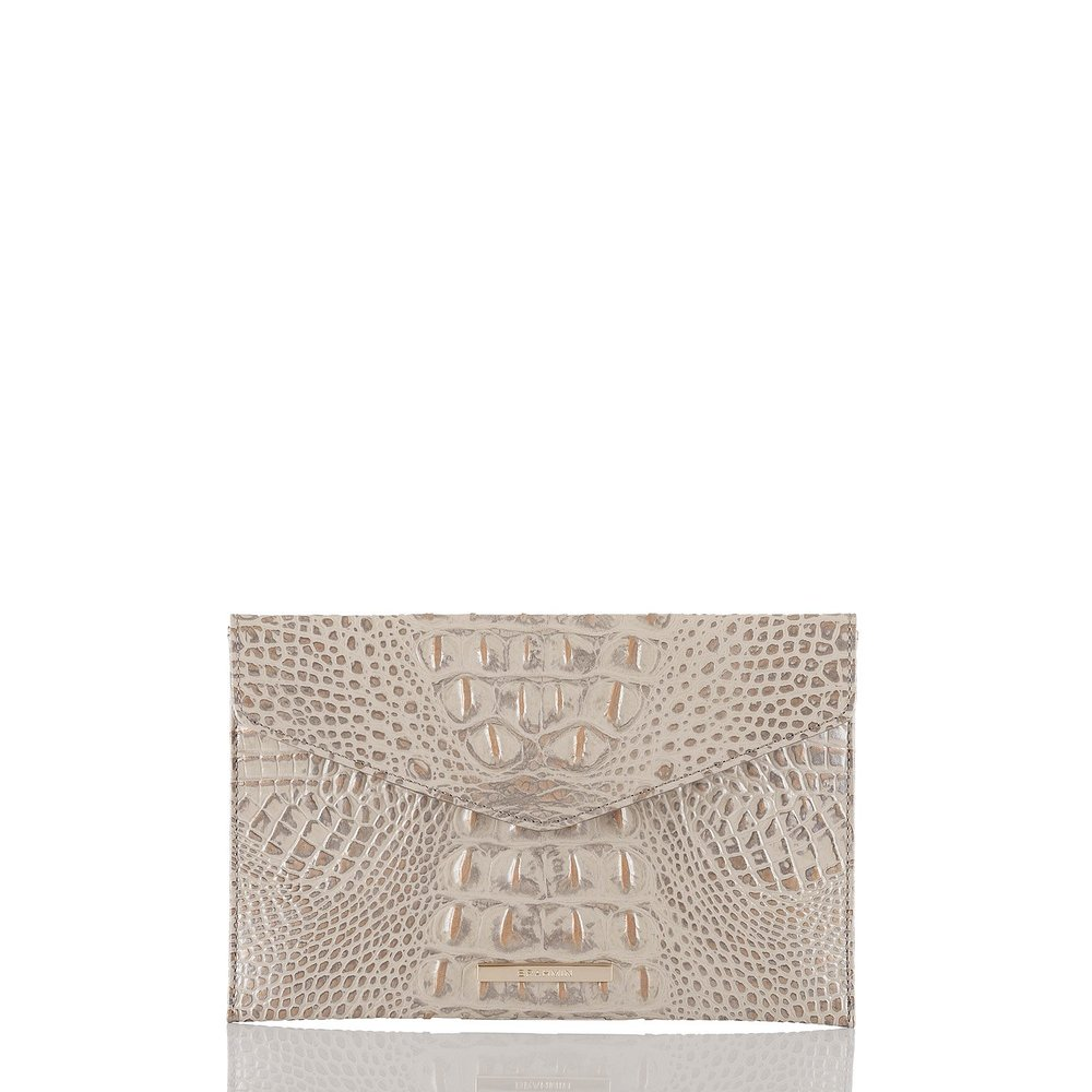 Envelope Clutch in Silver Birch Melbourne