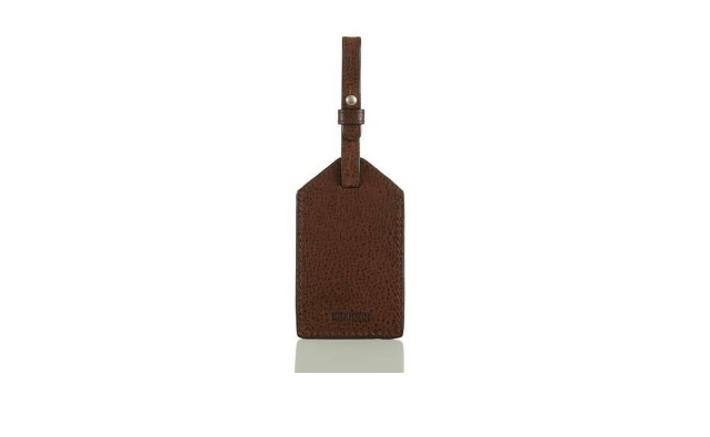 Men's Luggage Tag in Cocoa Brown Manchester