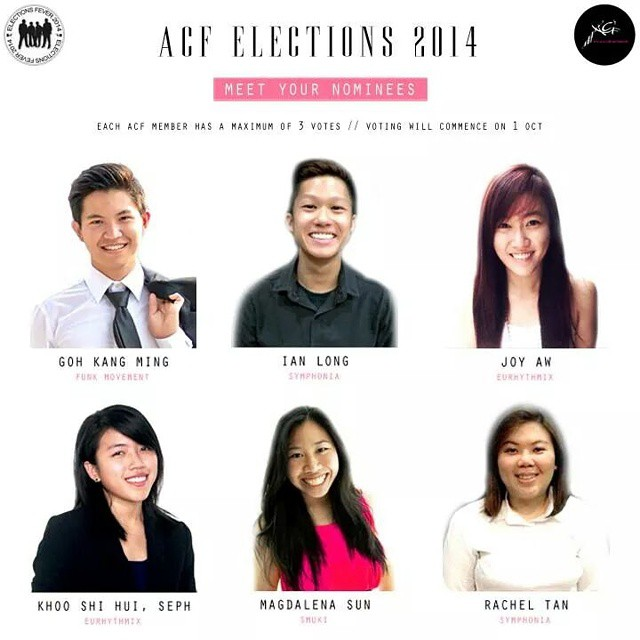 Meet the Candidates running for ACF's 11th Management Committee!  Voting period is between 1-2 Oct 2014. Each ACF member is entitled to a maximum of 3 votes.