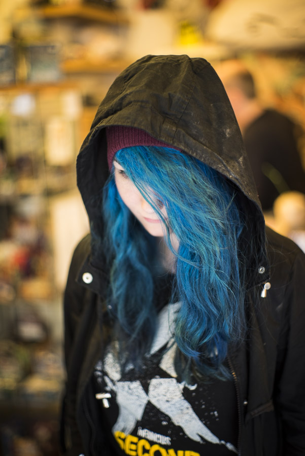 Awesome blue hair is awesome!