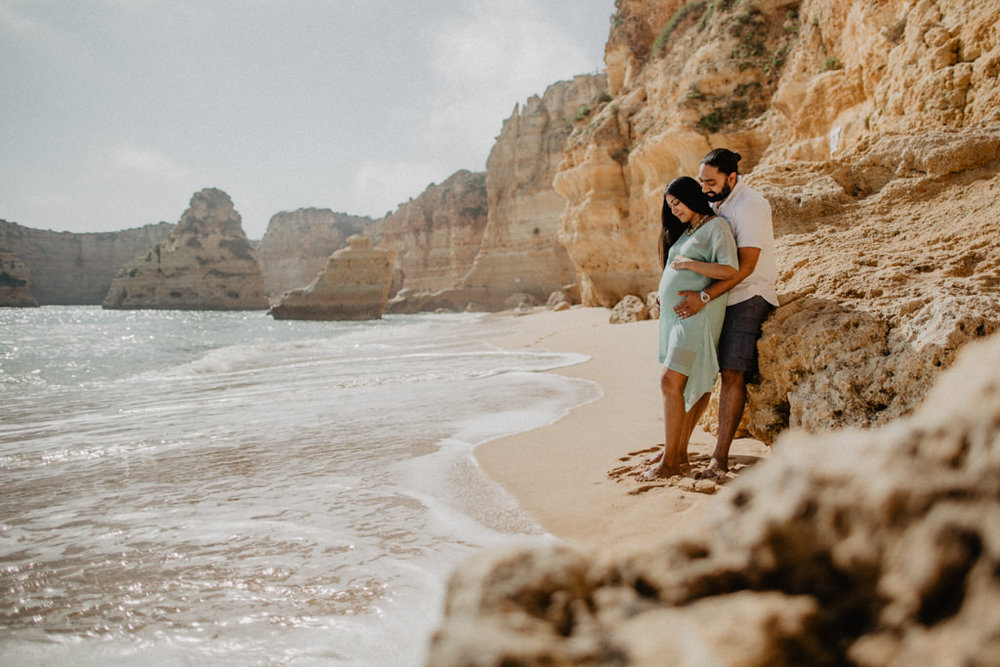 babymoon at marinha beach, algarve, portugal