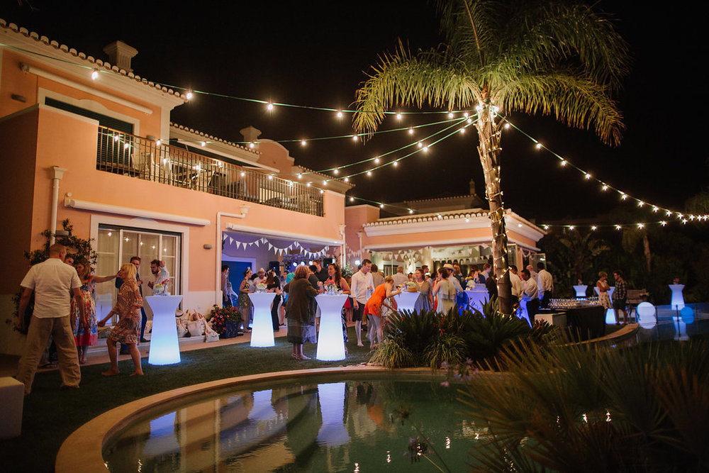destination wedding party at Vale do Lobo, Algarve, Portugal