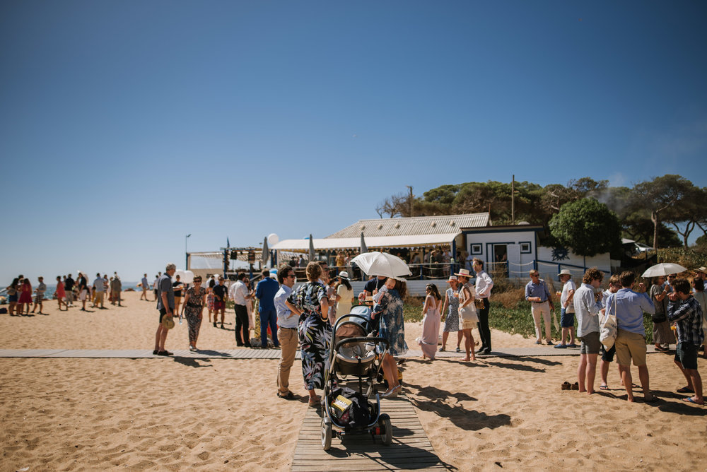 wedding at the Almargem beach, Quarteira, Algarve, Portugal