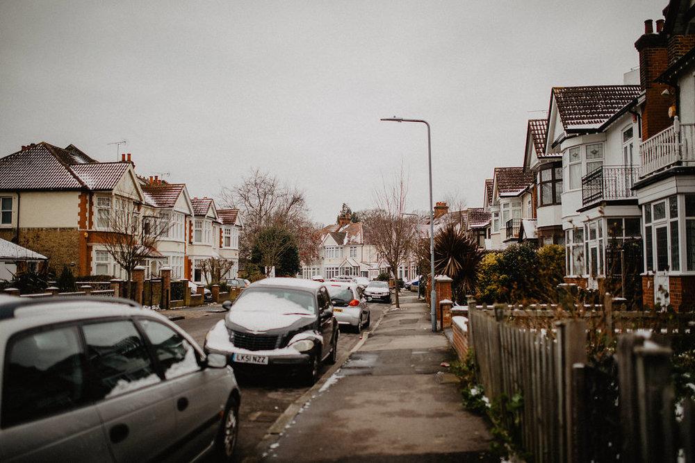 london snow street