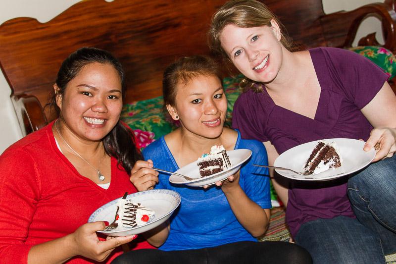 Duang and Peak suprise Tonya for her birthday.