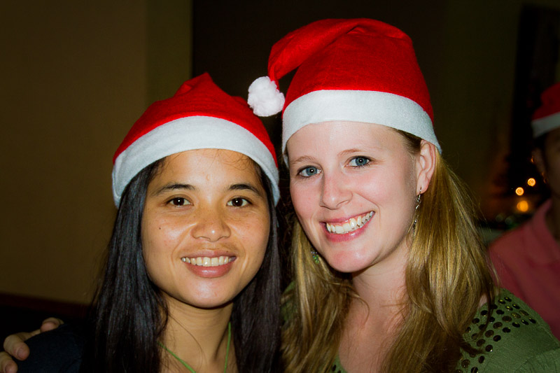 Keo and I at our Christmas Party!