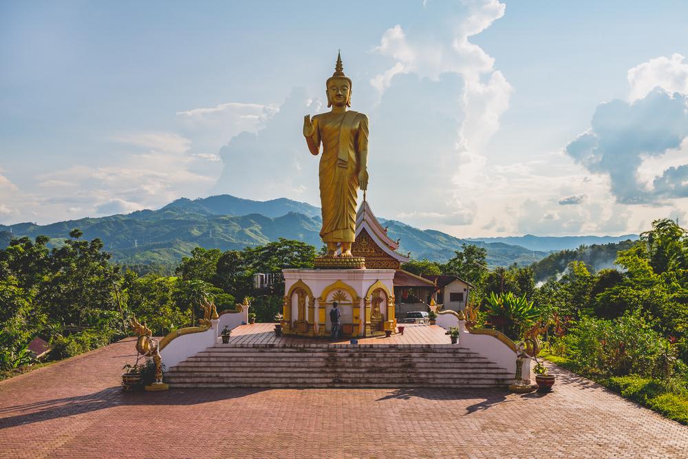 Buddha statue at Wat Phou Tat