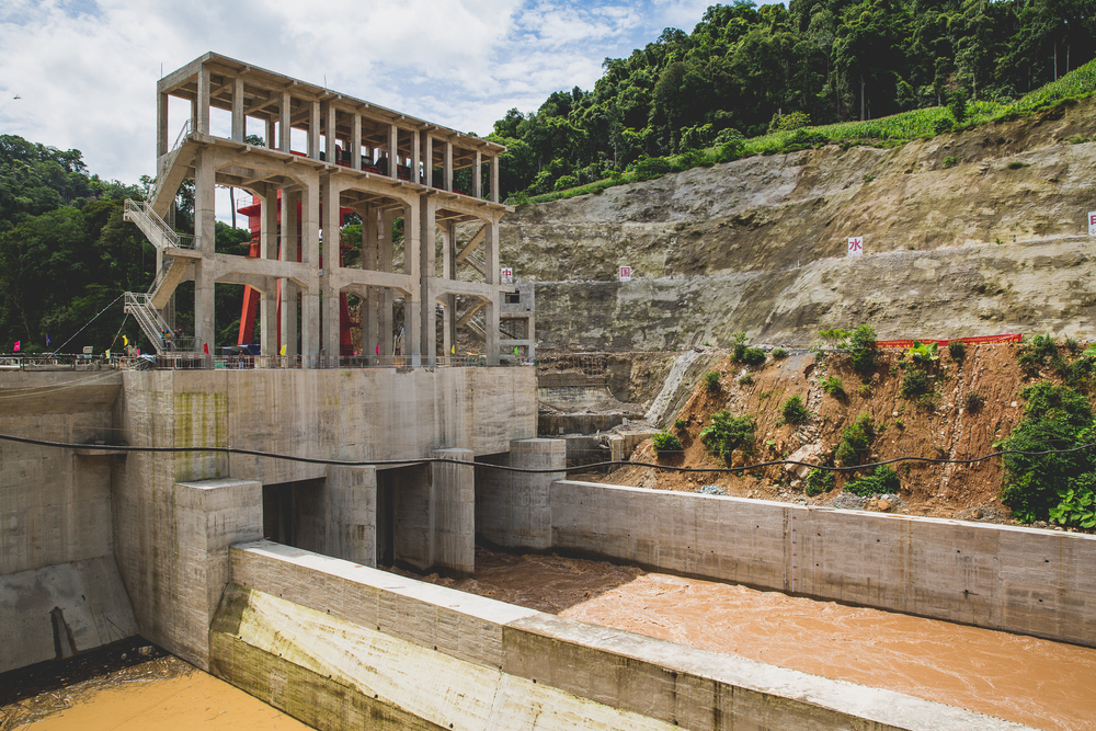 One of the many Chinese dam projects that are popping up throughout northern Laos.
