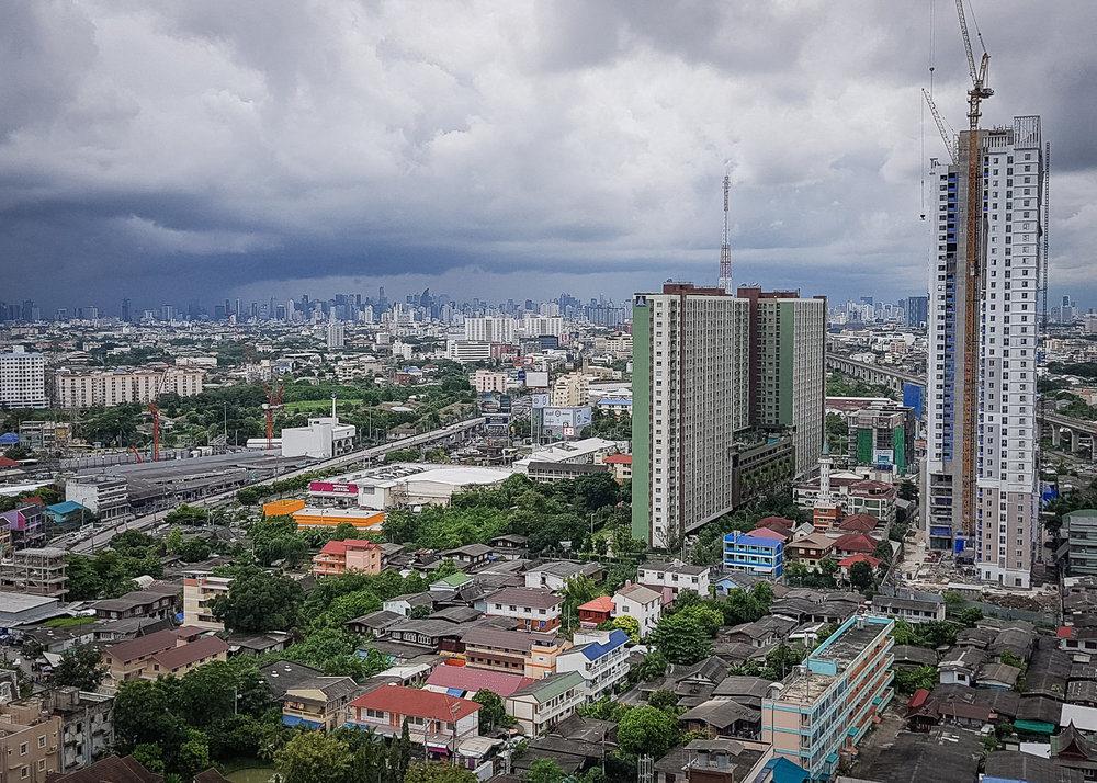 "View from a friend's apartment of the ""Big Mango,"" Bangkok, Thailand"