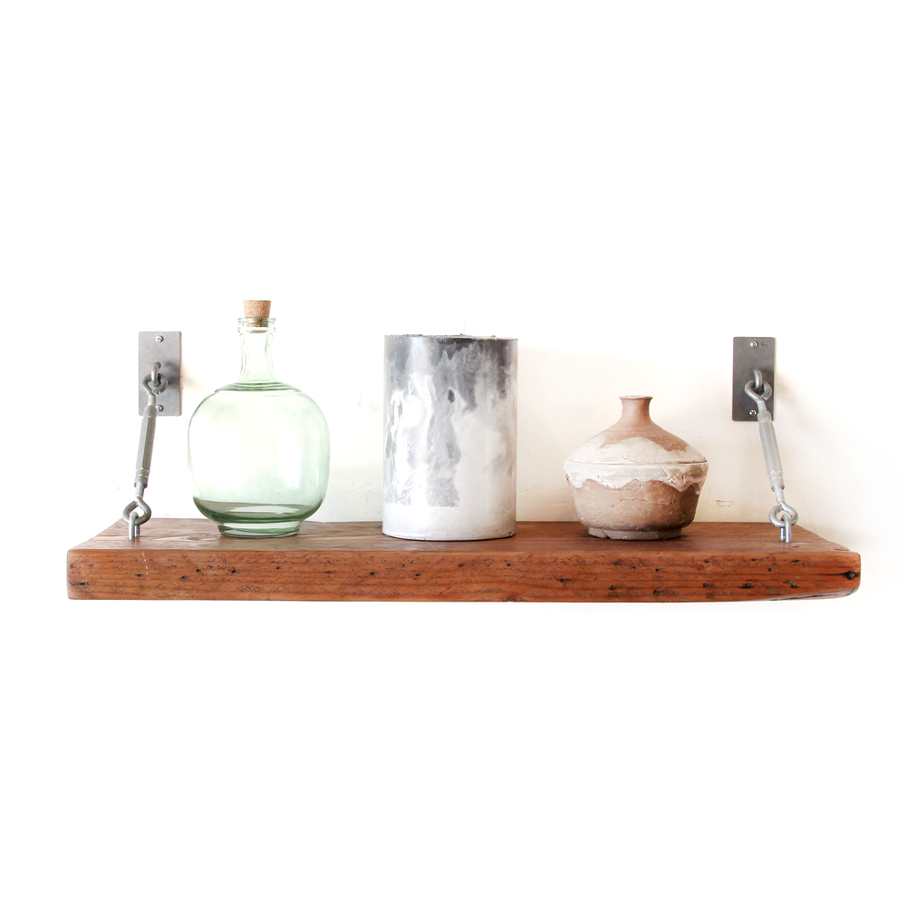 Shelf | Tumbled Silver Turnbuckle | Large