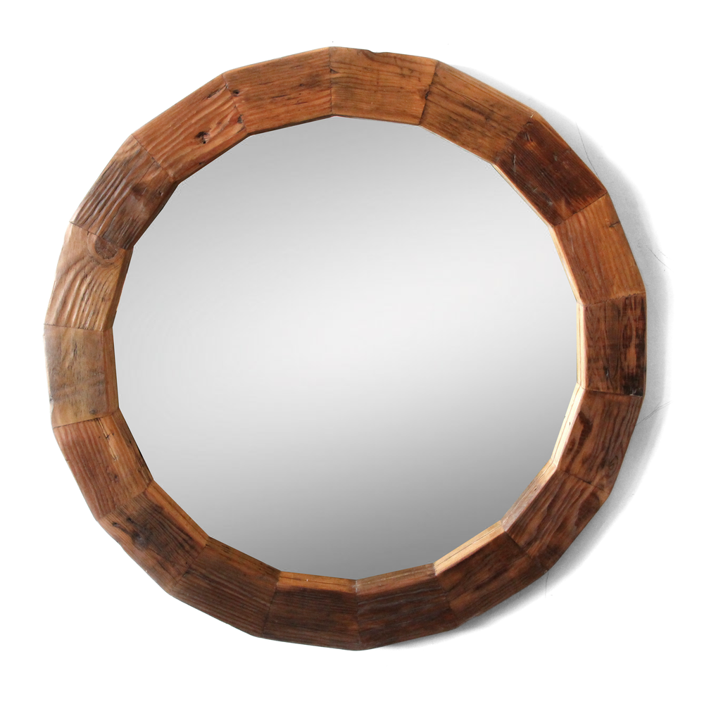 The Smithy | Round Mirror | Reclaimed Wood