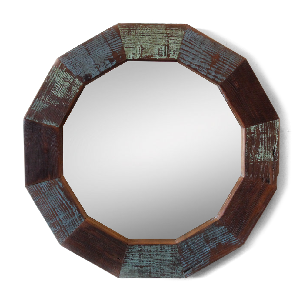 The Charleston | Round Mirror | Reclaimed Fir