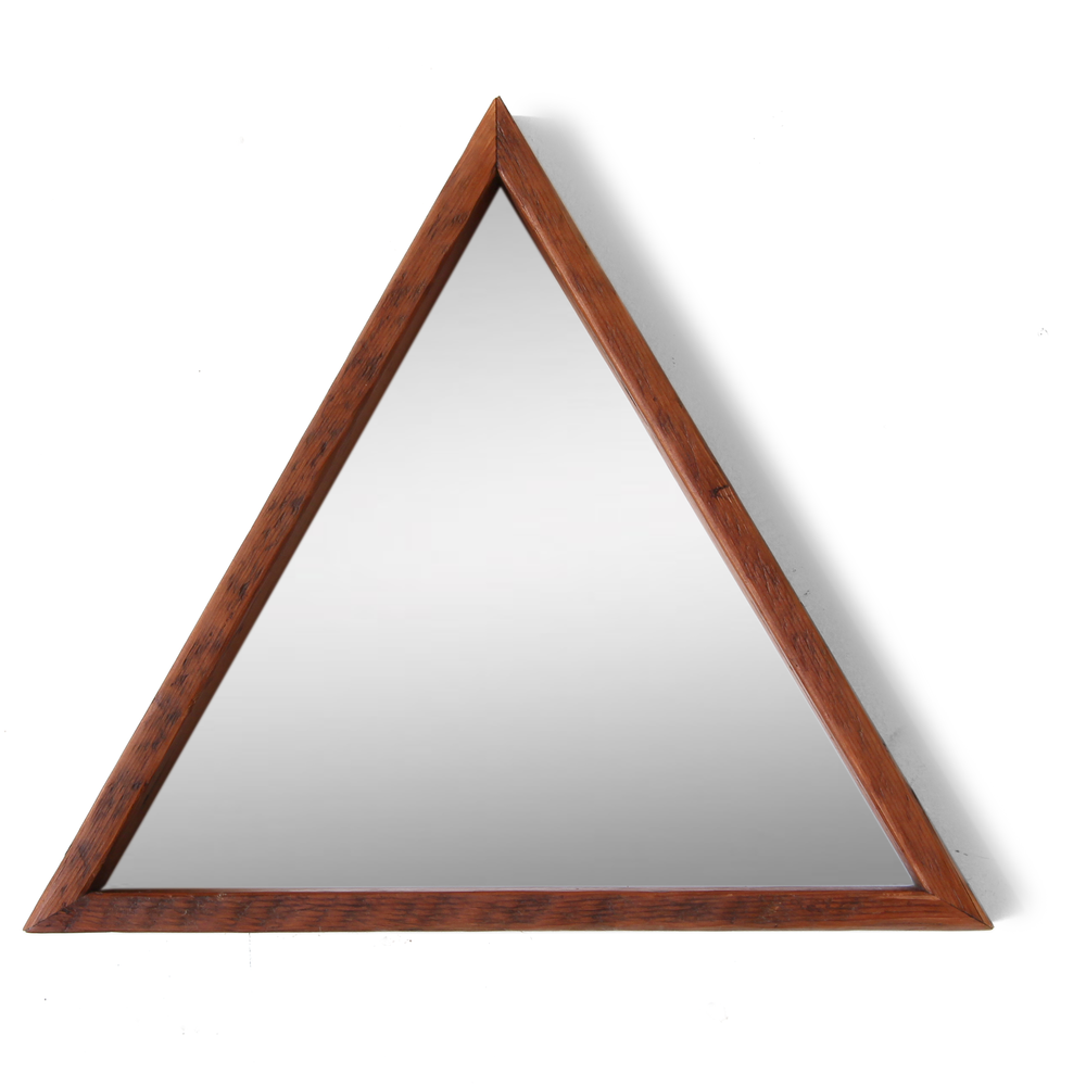 The Lyon | Triangle Mirror | Reclaimed Wood