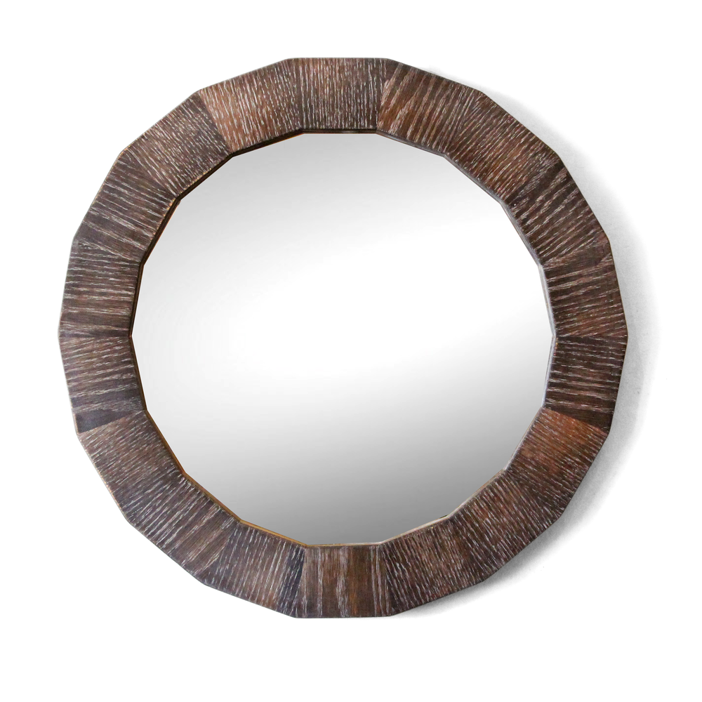 Round Mirror | Reclaimed Wood | The Murphy