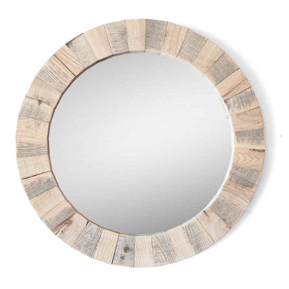 El Porto | Round Mirror | Reclaimed Hardwood
