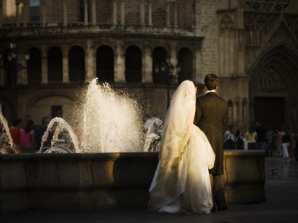 bride groom fountain