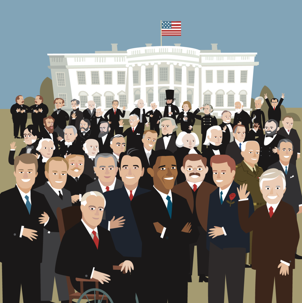 I once had to draw all the presidents.  I would sure like to add a girl to this boys club.