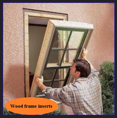 Wood frame replacemet insert windows windows and doors for Wood replacement windows