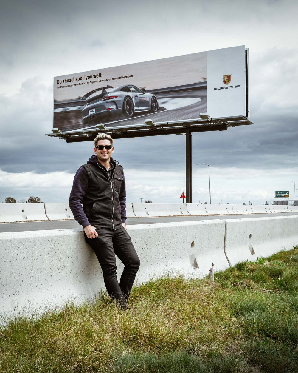 Billboard for Porsche Experience Center Los Angeles on the 405.