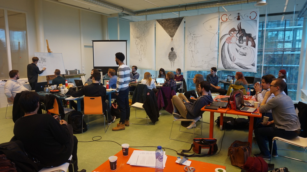 A workshop at Avans University in nearby Breda, the Netherlands.