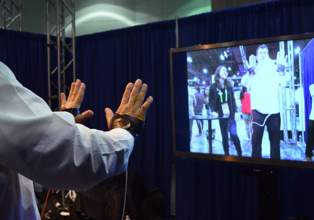 SIGGRAPH 2015 in Los Angeles. Showing the application of haptics in AR and VR.