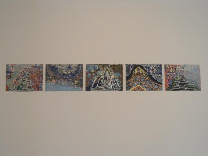 Sarah Walker, Outcrop I, II, III, IV, V, 2013