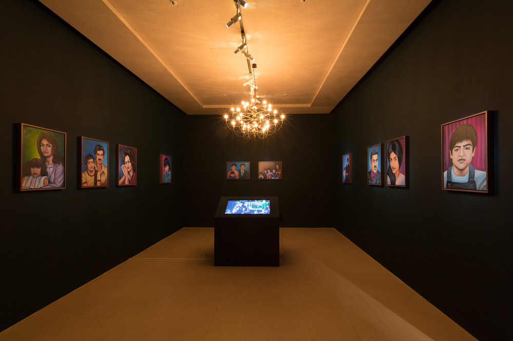 Jeanno Gaussi, Family Stories, 2011-2012, installation, 10 paintings with sountrack and one video