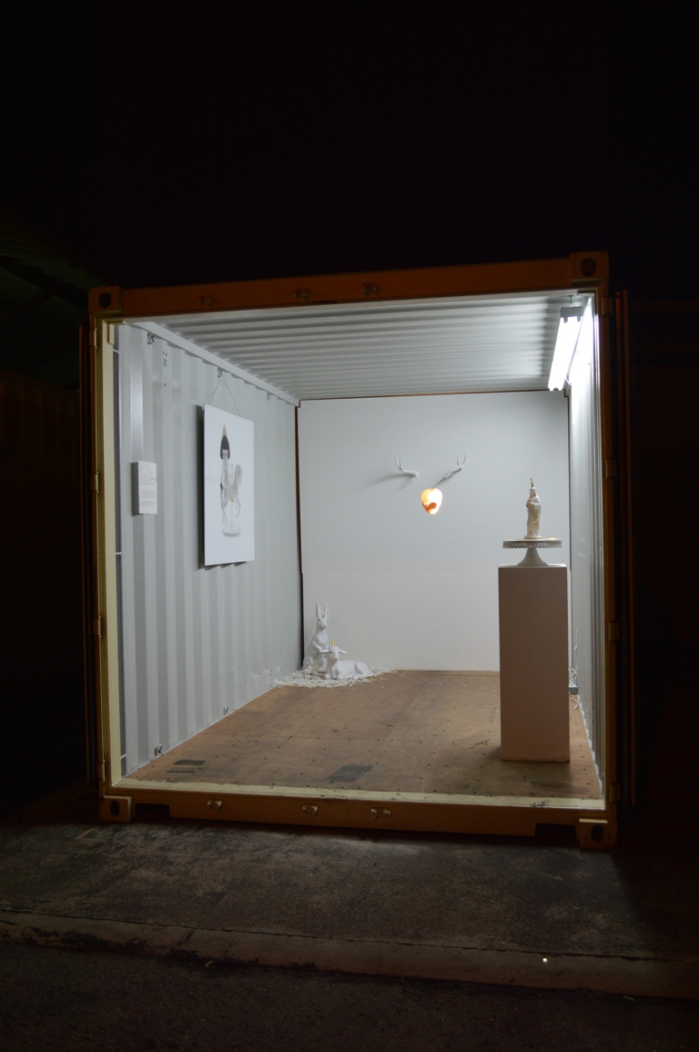 Chu Teppa's container at night