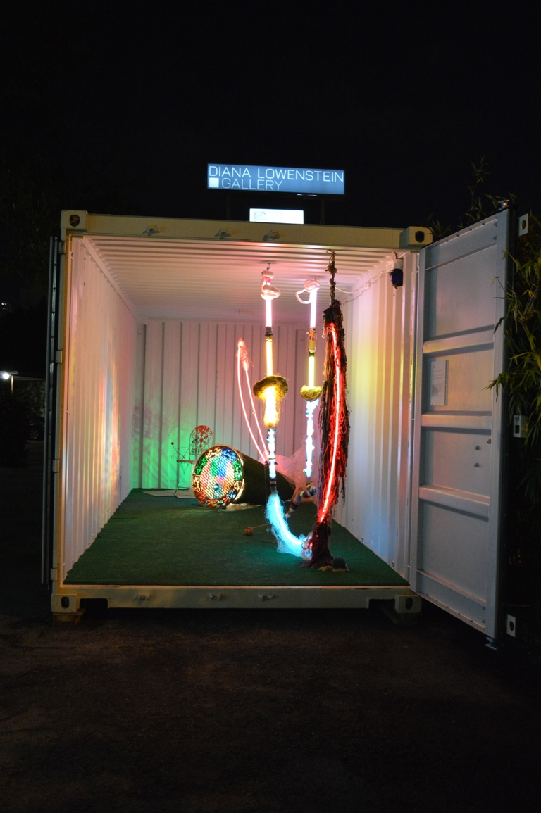 Alex Trimino's container at night