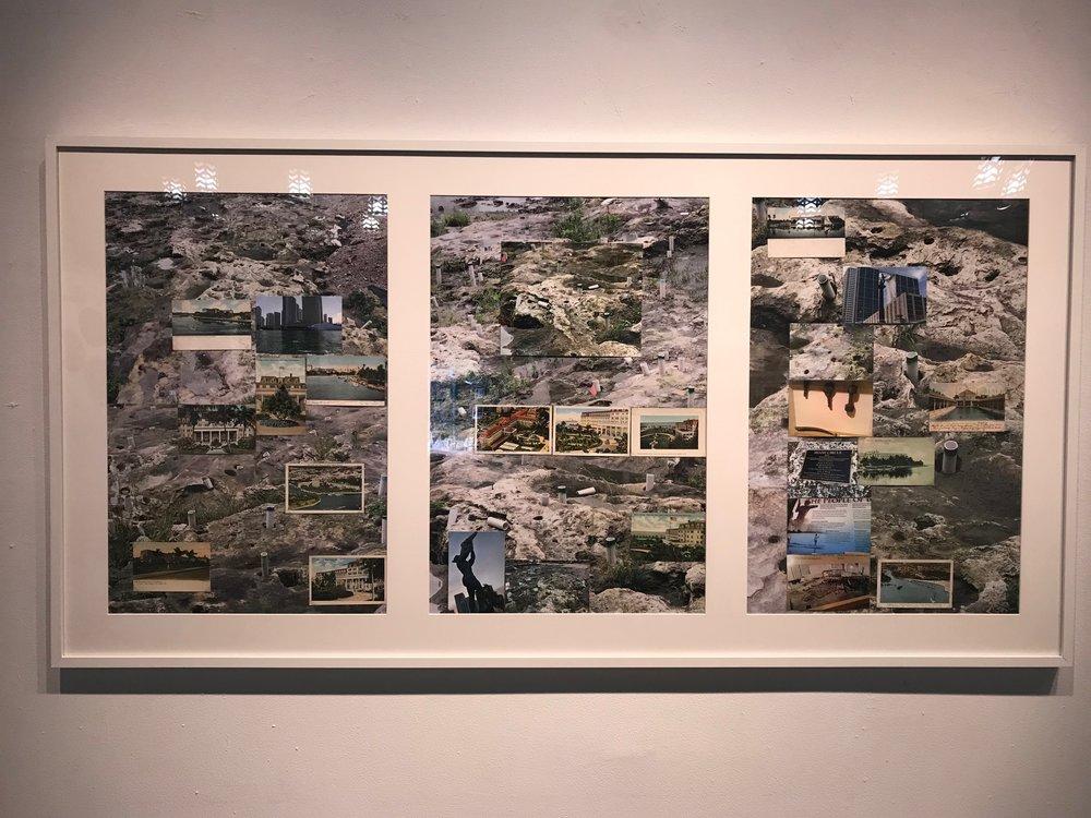 "Gustavo Oviedo    ""Tequesta""  . 2016  eBay items and photo prints (detail)  72"" x 37"","