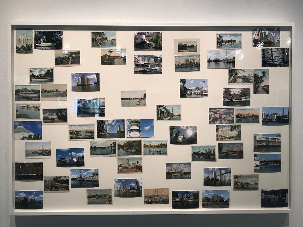 "Gustavo Oviedo   "" Miami River "", 2016  eBay items and photo prints (detail)  61"" x 41"","