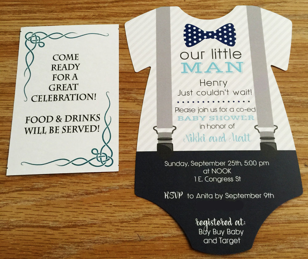The Invitations! So cute!