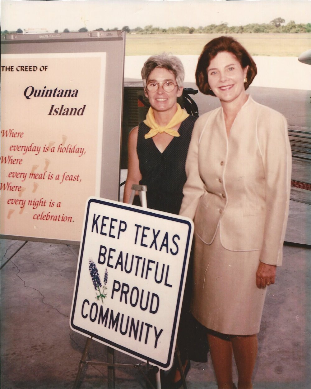 Debbie Alongis with Laura Bush