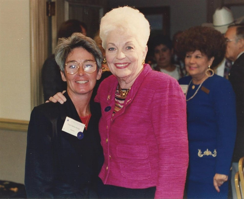 Debbie Alongis and Ann RIchards