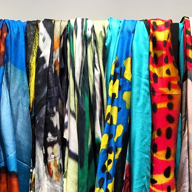 Color explosion  @coletteschilde #perfectdisplay #worldwide soul scarves #wearsoul
