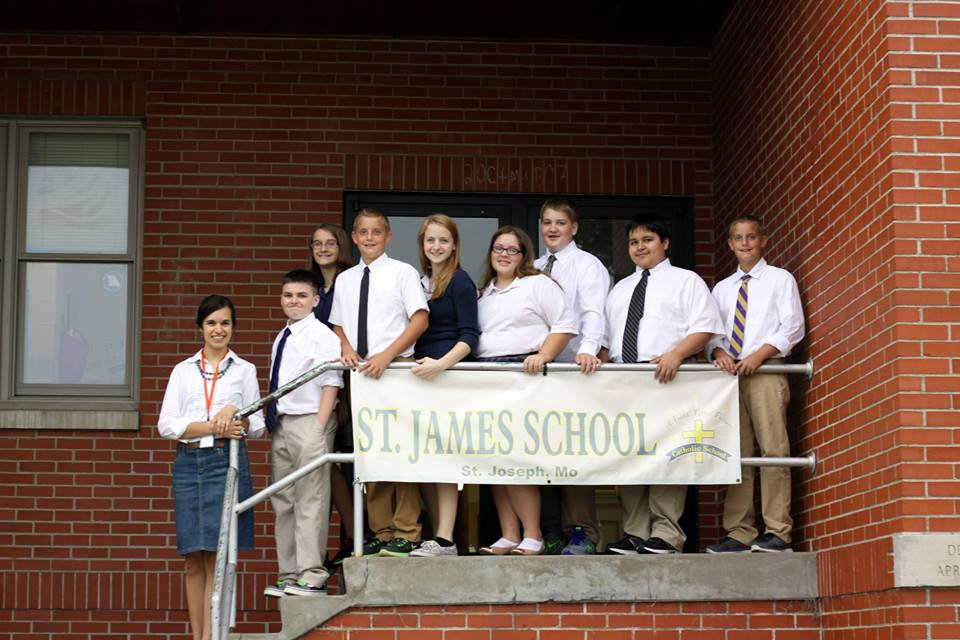 8th Grade graduates from St. James!