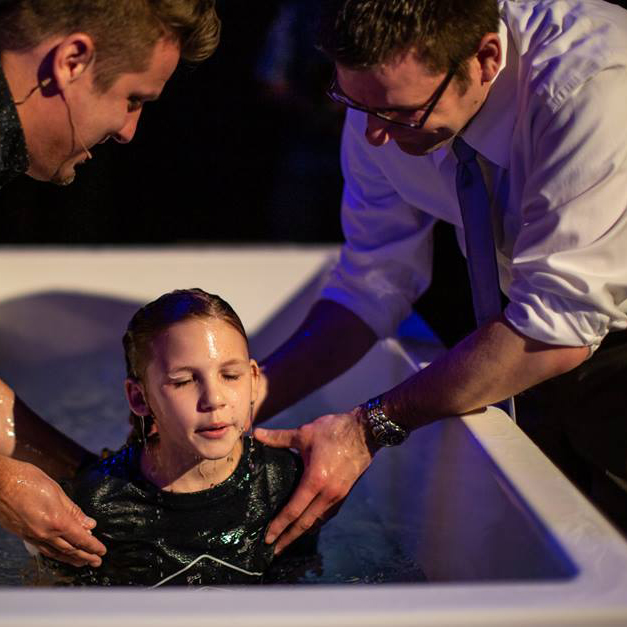 """""""Even though I'm only 10 I have had some tough times, with 20 surgeries so far. Having God in my life has made me brave. I am happy to have Him with me for the rest of my life and to be with Him in Heaven someday. The last few years I was nervous and afraid to get baptized because I was worried about being in front of everyone. But so many times Jesus has already helped me be brave. My favorite verse is Joshua 1:9 """"Have I not commanded you? Be strong and courageous. Do not be terrified: do not be discouraged, for the Lord your God will be with you wherever you go."""" ~ Sophie Travis"""
