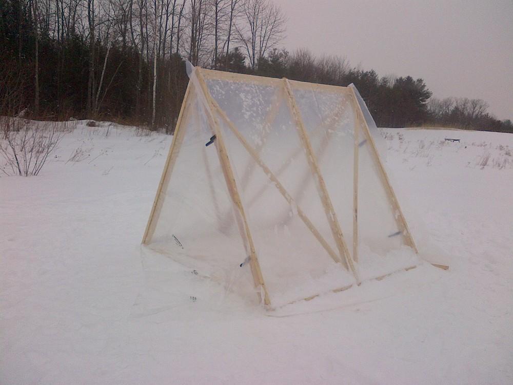 A-Frame seedling house