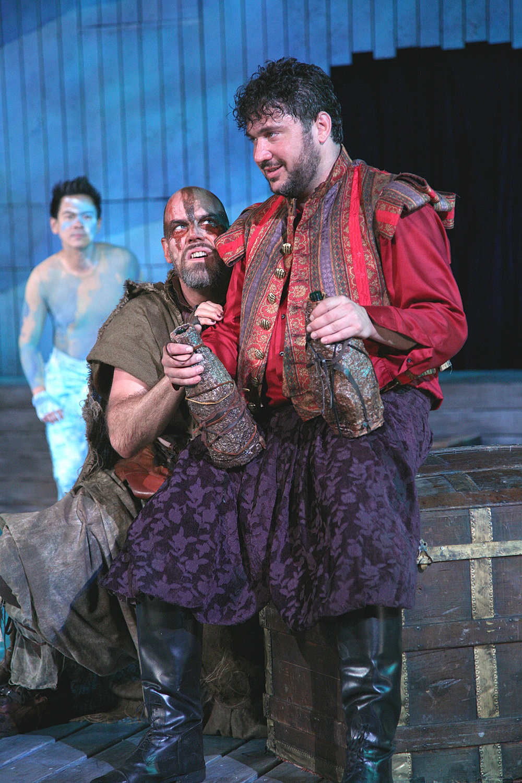 The Tempest - Ariel (Joel de la Fuente), Caliban (Mark Mineart), Stephano (Jay Leibowitz).jpg
